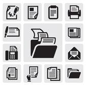 Icono de documento — Vector de stock