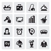 Hotel icons — Vector de stock