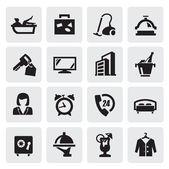Hotel ikony — Stock vektor