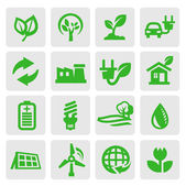Iconos de energía eco — Vector de stock
