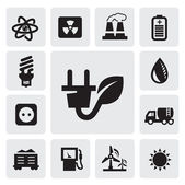 Eco energy icons — Vector de stock
