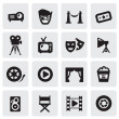 Stock Vector: Movie icons