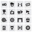 Movie icons — Stock Vector
