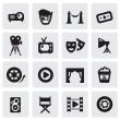 Movie icons — Stock Vector
