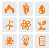 Ecology energy icon — Stock Vector