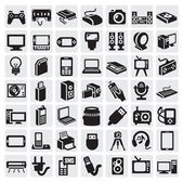 Electronic devices icons — 图库矢量图片