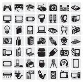 电子设备图标 — 图库矢量图片