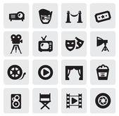Ikony videa — Stock vektor