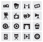 Film pictogrammen — Stockvector