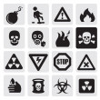 Danger icons - Imagens vectoriais em stock