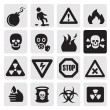 Stock vektor: Danger icons