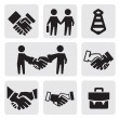Handshake icons — Stock Vector