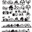 Royalty-Free Stock Vector Image: Houses icons