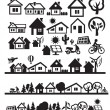 Houses icons — Image vectorielle