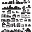 Stock Vector: Houses icons