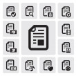 Royalty-Free Stock Vector Image: Documents icons
