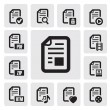Documents icons - Stok Vektör