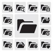 Iconos de carpeta — Vector de stock