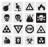 Nebezpečí ikony — Stock vektor