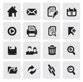 веб-иконки — Cтоковый вектор