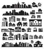 Houses icons — Stockvector