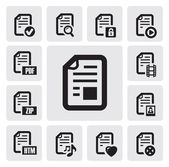 Documents icons — Vector de stock