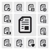 Iconos de documentos — Vector de stock