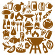 Barbecue icons — Stock Vector