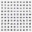 Big transportation icons — Vector de stock #13940119