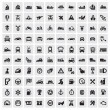 Big transportation icons - Stock Vector