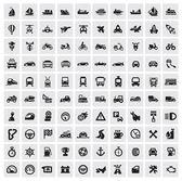 Icone di grande trasporto — Vettoriale Stock