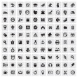 100 web icons — Stock vektor
