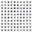 100 web icons — Stockvectorbeeld