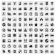 100 web iconen — Vector de stock