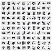 ícones da música — Vetorial Stock