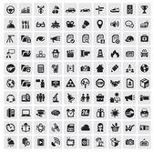 100 веб-иконки — Cтоковый вектор