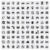 100 web icons — Vettoriale Stock
