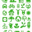 Vector de stock : Eco icons