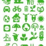 ícones de eco — Vetorial Stock