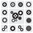 Gearwheel mechanism icon — Stockvectorbeeld