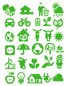 Eco icons — Vector de stock