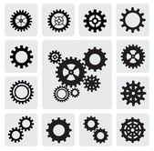 Gearwheel mechanism icon — Vector de stock