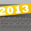 Calendar for 2013 - Vettoriali Stock 