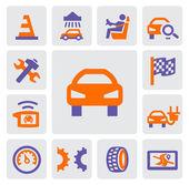 Auto a opravit ikony — Stock vektor