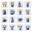 Stock Vector: Beverage icons