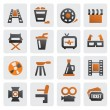 Royalty-Free Stock Vector Image: Movie icon