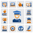 Education icon set — Wektor stockowy  #14812883