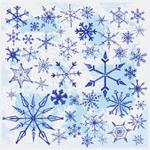 Hand drawn snowflakes — Stock Vector