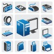 Stock Vector: Computer icon