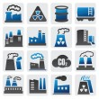 Stock Vector: Factory icons